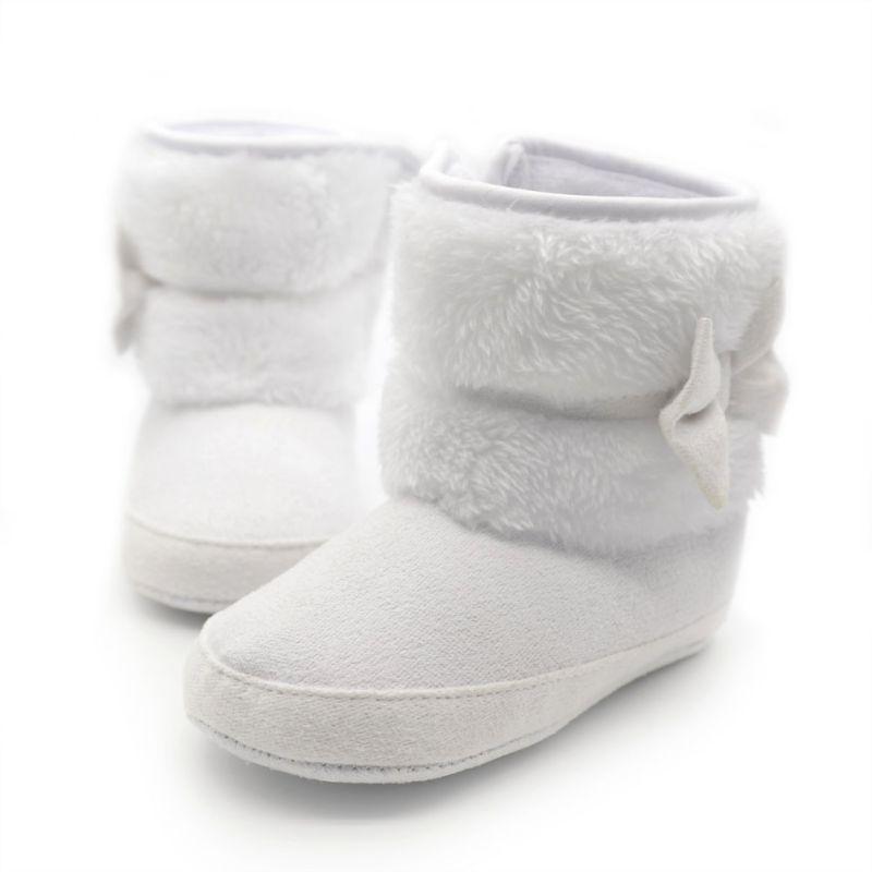 7ef95588e25 Bebé Niñas invierno Botas de nieve NWT infantil sólido bowknot Zapatos  prewalker 0-18 meses bebé