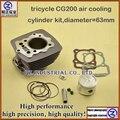 Alto rendimiento de alta precisión de alta calidad para LONCIN triciclo 200cc motocicleta piezas del motor CG200 cilindro de enfriamiento de aire kit