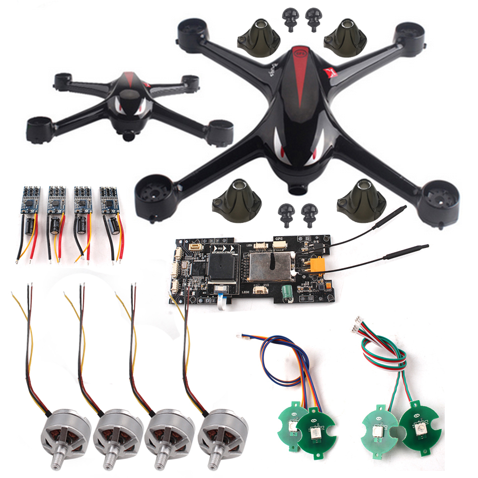 DIY MJX B2W  UAV Host Black Shell + LED Light + Positive And Negative Motor + Board + Receiver + Foot Pad Spare Parts