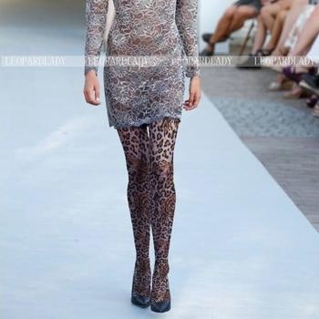 2018 Medias Crotchless de mujer Medias de algodón de venta Medias Pantis mujer Pantis nueva moda de leopardo personalizada