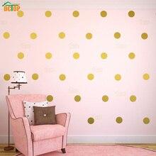 54pcs/44pcs/18pcs Gold Silver Polka Dots Wall Sticker Nursery Kids Rooms Children Decals Home Decor DIY Art Decoration