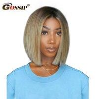 Эффектом деграде (переход от темного к парики из натуральных волос с Африканской структурой, 613 Синтетические волосы на кружеве парик брази
