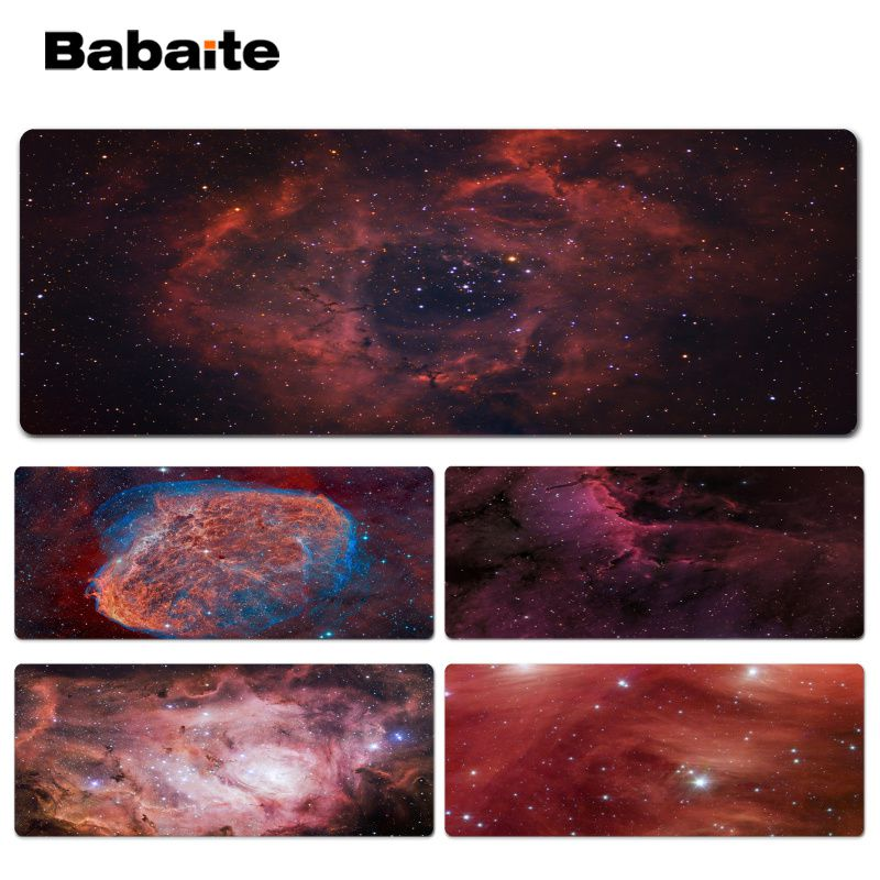 Babaite Vintage Cool Galaxy groups and clusters gamer play mats Lockedge Mousepad Size for 30x90cm 40x90cm Speed Mouse Pad