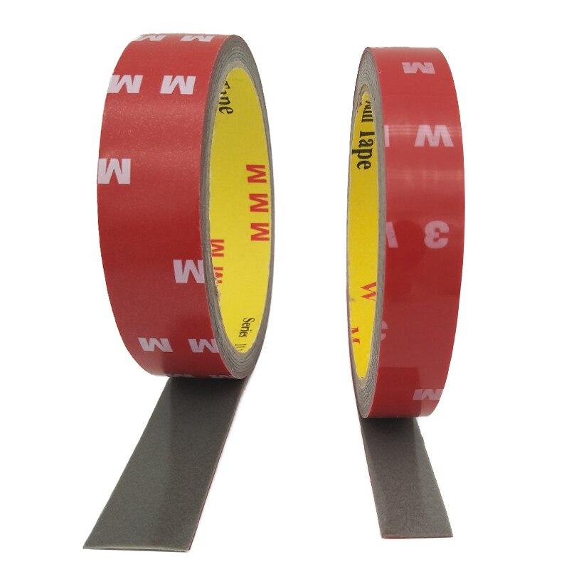 6/10/15/20mm super viscosidade dupla-face fita adesiva adesivo para led strip instalação tela acessórios de reparo do carro