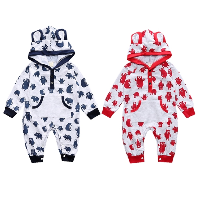 277c31da0 Cotton Baby Cartoon Hoodies Rompers Autumn Infant Jumpsuits Kids Overalls Children  Clothing Set for Boys Girls Toddler Clothes
