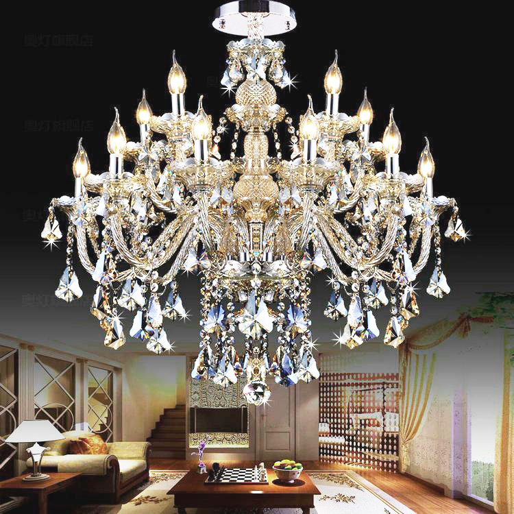 Modern Crystal Chandeliers Pendientes Luminaire Hanging Lampe  Home Lighting Fixtures Living Room Pendientes Lluminaire
