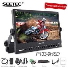 "Seetec P133 9HSD 13.3 ""IPS 3G SDI 4K HDMI שידור צג מלא HD 1920x1080 שדה וידאו שולחן עבודה צג LCD עם AV DVI"