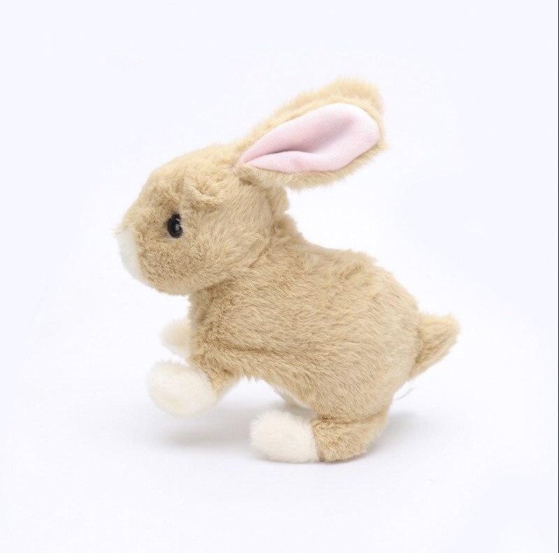 Date haute qualité en peluche saut lapins poupée électrique animaux jouet en peluche Animal modèle bébé enfants cadeaux d'anniversaire