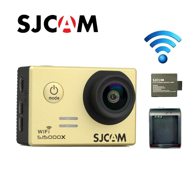 Free shipping!! Original SJCAM SJ5000X Elite WiFi 4K 24fps Helmet Gyro Sport Action Camera +Extra 1pcs Battery+Battery Charger sport elite se 2450