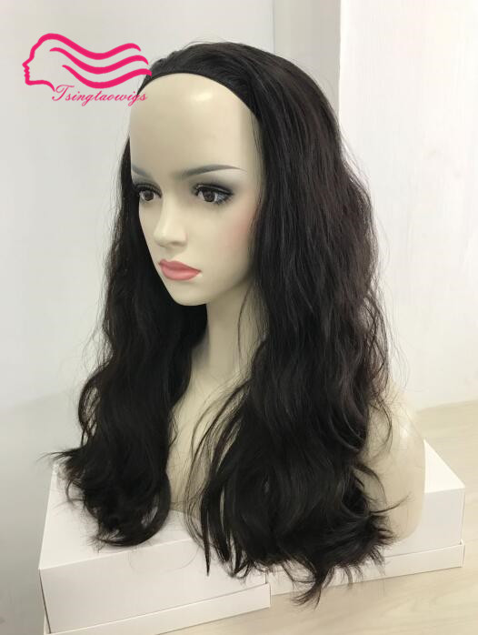 100 European virgin hair 2 slight wave 22in layer bandfall wig headfall jewish bandfall wig