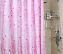 2016Thick Waterproof Mildew Shower Curtain Polyester Fabric Bathroom Cut Off Gualian Can Be
