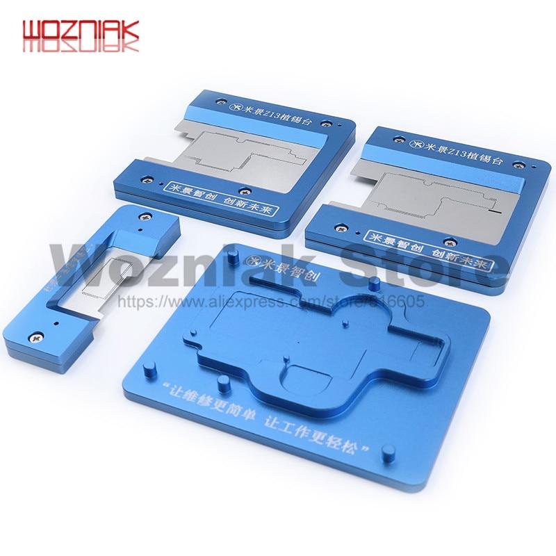 Wozniak z11 z13 Aluminium Alloy for IPhone X/XS/XS MAX Tin Plant Fixed Position Platform Main Board Fixture Stannum Planting Net