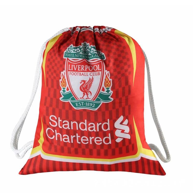 Liverpool Football Clubs Swerve Gym Bag Soccer Drawstring Backpack Drawstring Sport Bag for Soccer Fans