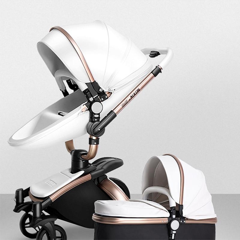 Haute poussette bébé paysage 2 en 1 poussettes couché amortissement pliant poids léger imperméable enfant réglable poussette sûre