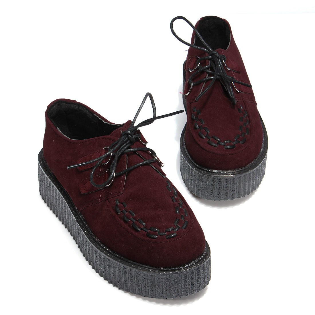 6fb45d3a6 Autumn Creepers Platform Shoes Woman Flats Female Womens Girl Footwear  Women Black Wine Red Thick Flat Heel Slip Soft Shoe-in Women's Flats from  Shoes on ...