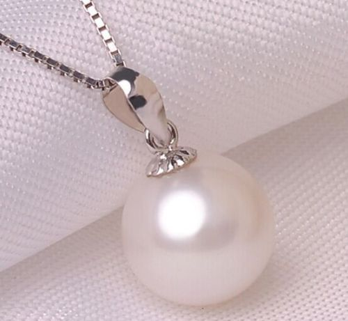 Hot selling free shipping******* 1711-12mm natural south sea white pearl necklace pendant single 38inch 11 12mm south sea baroque white pearl necklace shipping free