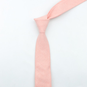 Solid Color 6cm Width Tie Cotton Pure Colorful Slim Neckties for Wedding Ties Skinny Groom Necktie for Men