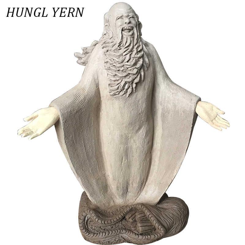 23 см Laozi статуя Будды bouddha скульптура глина настраиваемые статуи для украшения