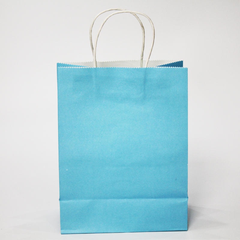 50 Pcs Christmas Gift Bag Recyclable Kraft Paper With Handle