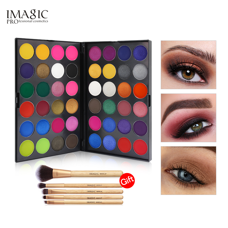 IMAGIC Eyeshadow Pallete Professional 48 Colors Eyeshadow Matte Shimmer Glitter Cosmetics Smoky Eye Shadow Makeup Powder для глаз milani everyday eyes powder eyeshadow collection 02 цвет 02 bare necessities variant hex name cd9a5a