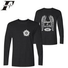 Supernatural T-shirt for Men Spirnt Fashion Clothing Men's Long Sleeve T Shirt Cotton Casual T-Shirt Supernatural