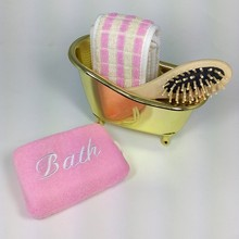 4 Items/set Pet Mini Bathtub+Wood Massage Comb+bath Pull back sponge+bath sponge bathroom accessories bath set SY26