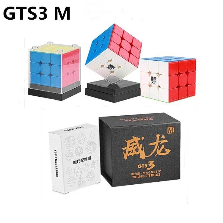 Neo Cubo MoYu Weilong GTS3M GTS V3 3x3x3 GTS3 M 3 Magnético Enigma Cubo Mágico Profissional x 3 GTS3 M Velocidade cubo magico brinquedos Dos Miúdos