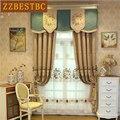 Классические роскошные коричневые затемненные шторы с вышивкой для гостиной  высокое качество  вуаль  занавески для спальни  отеля