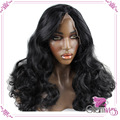 Японский жаропрочных волокна парики из синтетических волнистые фронта парик с ребенком волос Glueless парики для черной женщины