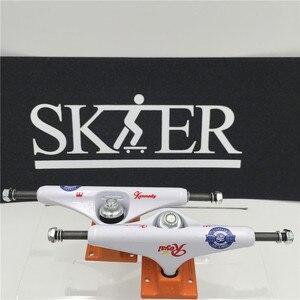 """Image 4 - 품질 스케이트 보드 부품 중간 중공 형 트럭 스케이트 보드 5.5 """"무늬 컬러 스케이트 트럭 알루미늄 트럭 de skate"""