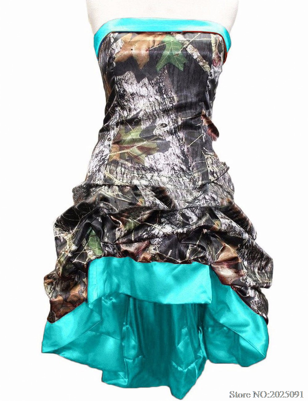 Hi Lo Camouflage Bridesmaid Dresses Plus Size Wedding Party Gown ...