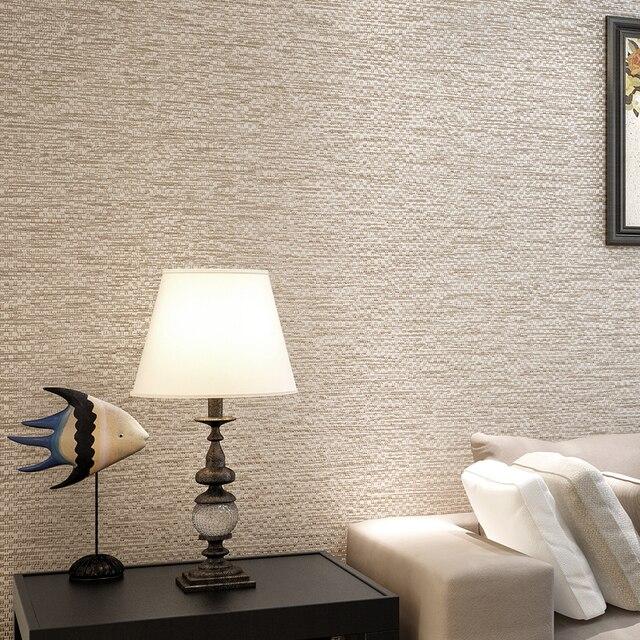 aliexpress.com : moderne einfache einfarbige grau beige leinen ... - Tapete Grau Beige
