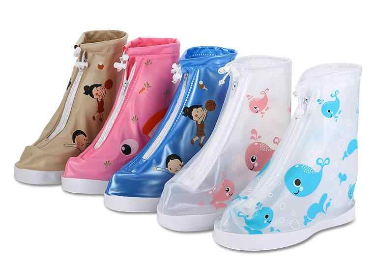 Reusable children rain shoe covers waterproof cute cartoon printing Shoe Cover Outdoor