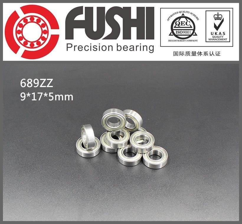 S689ZZ Bearing 9*17*5 mm ( 10PCS ) ABEC-1 440C Roller Stainless Steel S689Z S689 Z ZZ Ball Bearings smr62zz abec 1 10pcs 2x6x2 5mm stainless steel miniature ball bearings smr62zz