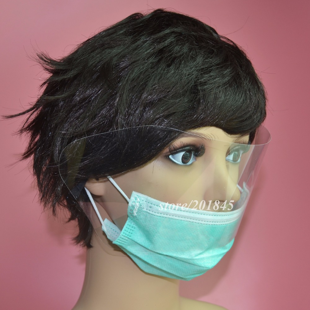 100 Pcs/Pack Chirurgische Gesicht Maske Ohrbügel Atemschutz Staub Mund Anti Nebel Mit Visier 3 Schicht Schwarz Maske unisex Für Gesundheit Pflege - 4