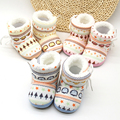 Print Baby First Walkers Plus Velvet Infant Shoes New Boys Girls Prewalker 0-1 Years Old Warm Shoes Toddler Photography Ptrops