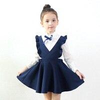 Spring Autumn Girls Clothes 2017 Fashion Vest Girls Dress Baby Girls School Princess Dress Vestido 3
