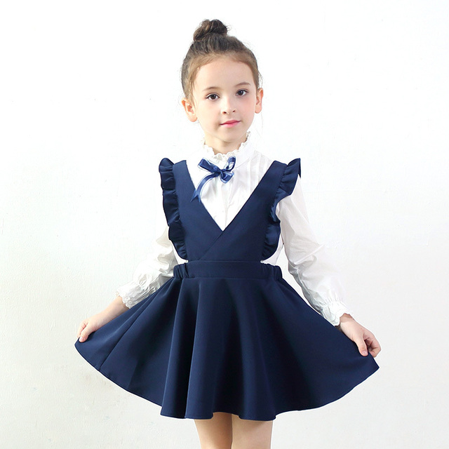 Spring Autumn Girls Clothes 2017 Fashion Vest Girls Dress Baby Girls -2695