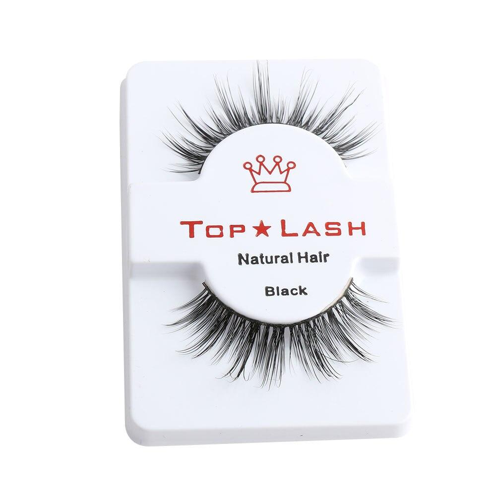 1Pair Black Luxurious 100% Real Mink Eye Lashes Wispy Cross Natural False Eyelashes Extension Soft Natural Eyelash Makeup Tools