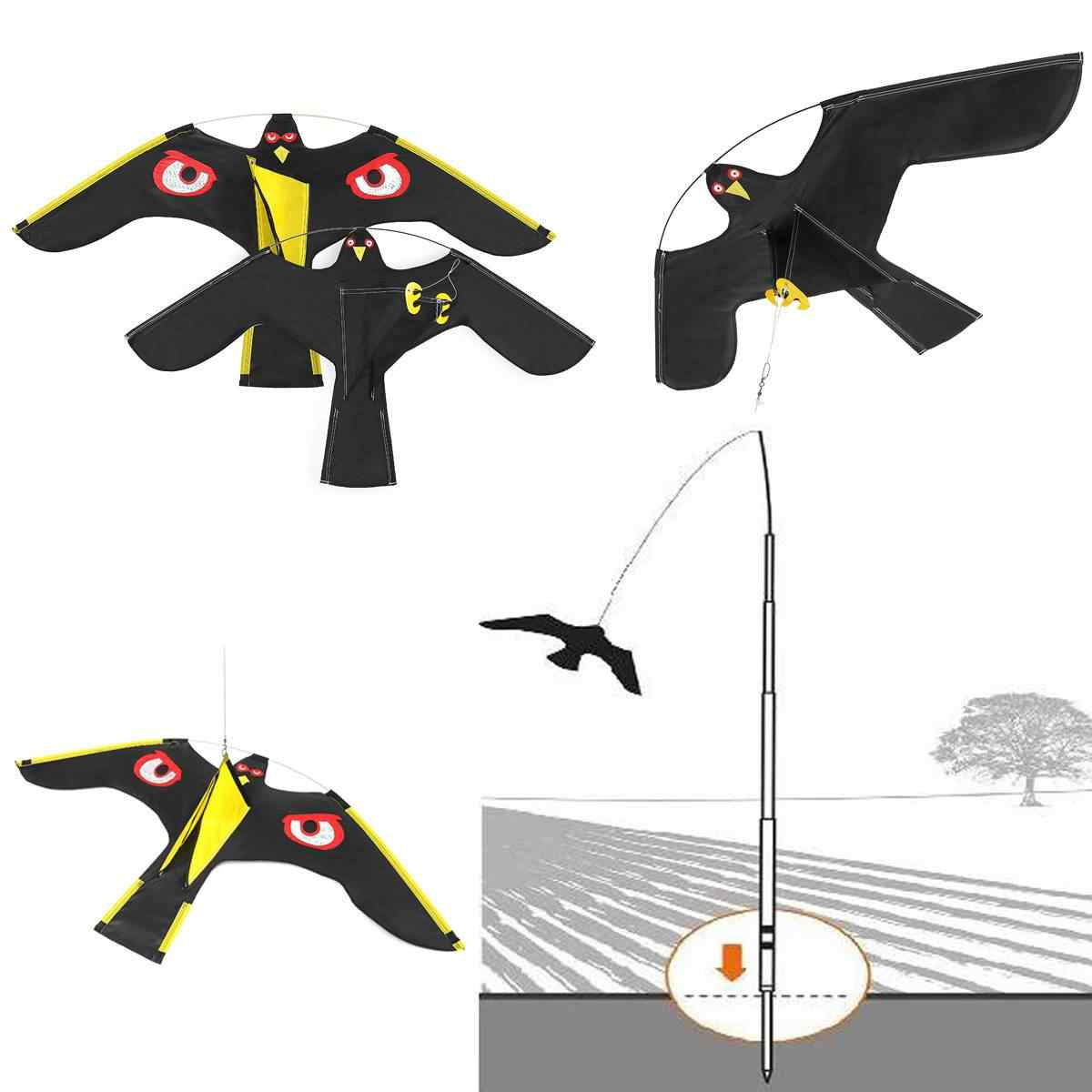 NEW Emulation Flying Hawk Bird Scarer Drive Bird Kite For Garden Scarecrow Yard Home