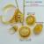 Etíope de Oro conjunto de La Joyería de Oro Collar/Pendientes de Clip/Anillo/Brazalete de Novia de la Boda de África Eritrea set Joyería #000613