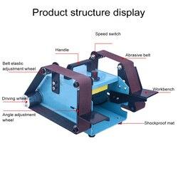 Multi-function Electric Belt Sander Desktop Double-head Belt Sanding Grinding Machine Polishing Tool Power