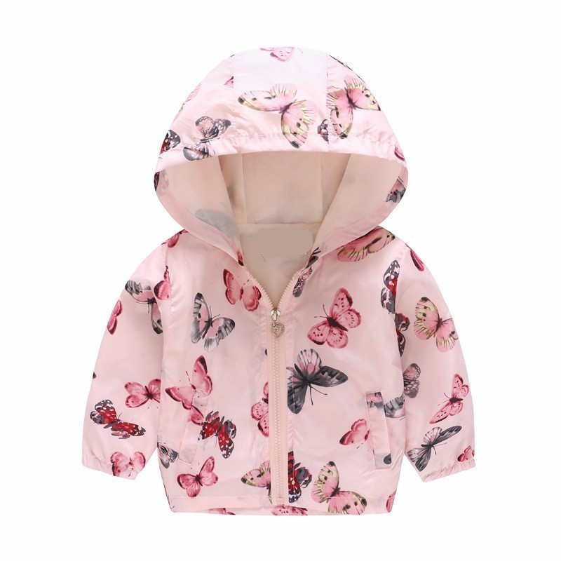 Baby Girls Hooded Jackets Coat Boys Cartoon Print Outwear for Kids Spring Sun Proof Tops Clothes 2 7 years in Jackets Coats from Mother Kids