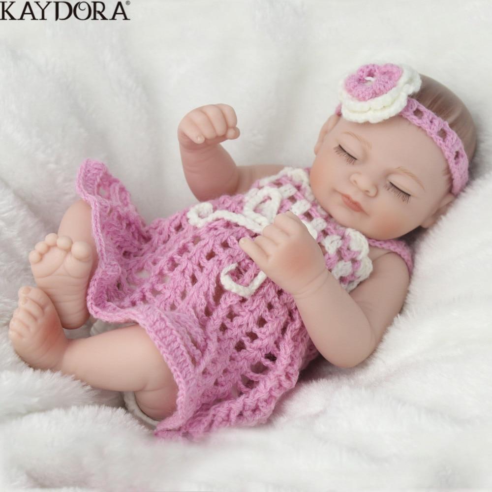 KAYDORA réaliste Reborn bébé poupées Silicone corps complet Reborn poupée à vendre jouets pour filles réel doux jouets faits à la main 25 cm