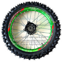 60/100 14 GuangLi Tyre Front Dirt Bike Pit Bike Racing Full Wheels 1.40 14 Inch Alloy Rim with 32 holes Tyres PIT PRO KTM CRF