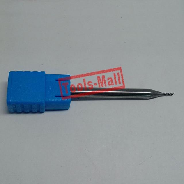 1pc 1.5mm D1.5*3*D4*75 HRC50 2 Flutes Milling cutters for Aluminum  CNC Tools Solid Carbide CNC flat End mills Router bits