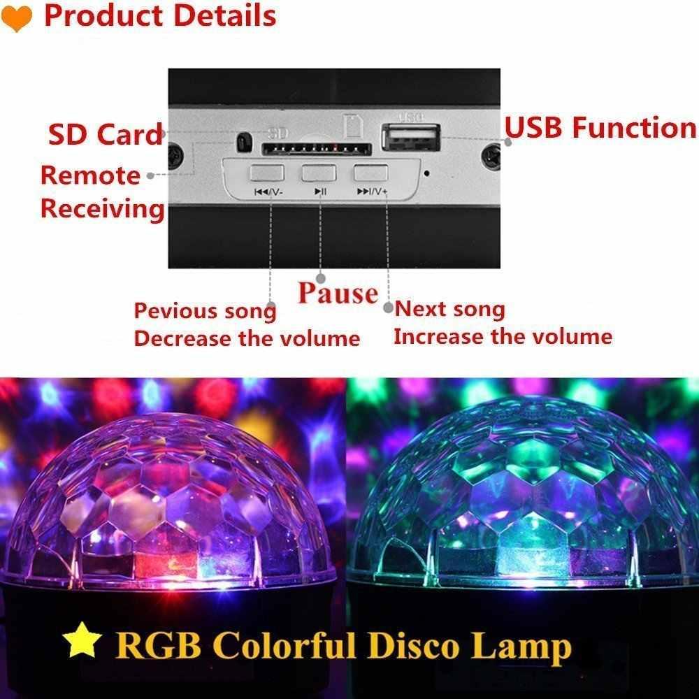 9 Цвет светодиодный дискошар свет Mp3 плеер Bluetooth Динамик лазерное шоу вечерние Свет 18 Вт DJ Рождество для сценического освещения светомузыка Soundlights