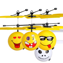CHAMSGEND Infrared Sensor Hand Induced Flight Emoji Flying Helicopter Balls RC Drone Toys A dropshipping