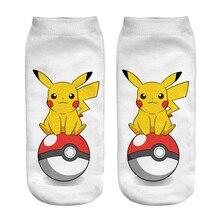 New Arrival Kawaii Harajuku 3D Printed Pokemon Pikachu Socks