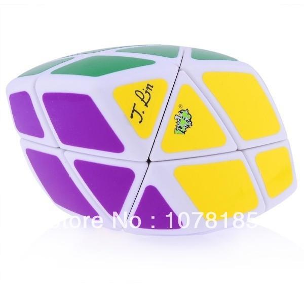 Nueva LanLan Skewb Curvy Romboedro Cubo Mágico Puzzle (70mm) Blanco de aprendizaje y Educación Juguetes Especiales Cubo